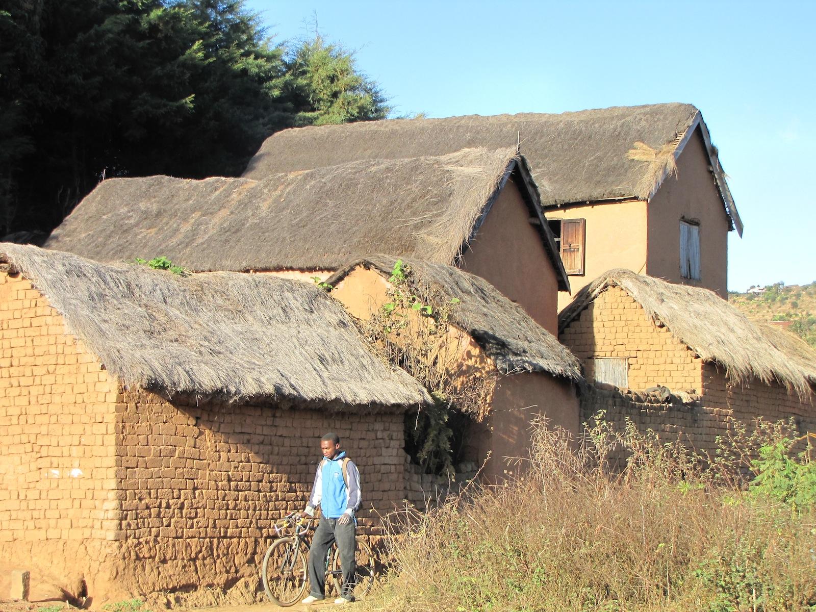 Häuser typisch für Madagaskar